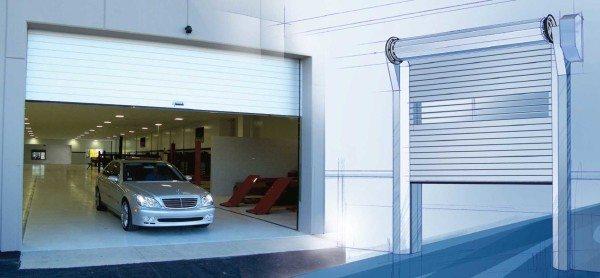 Автоматические скоростные рулонные ворота часто применяются для паркингов