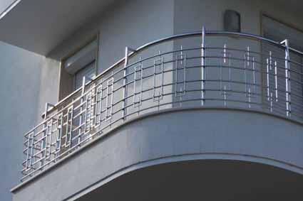 Балконная ограда из нержавеющей стали