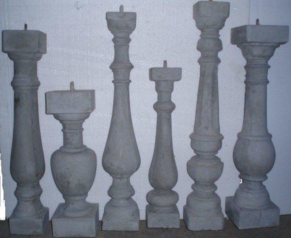 Балясины разной величины и формы