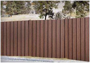 Чем не деревянный забор