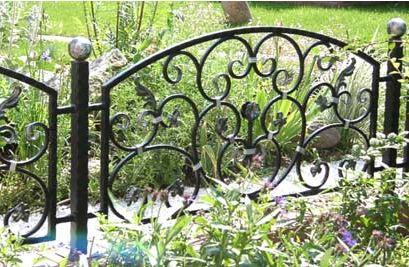 Декоративный металлический забор