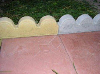 Декоративный бетонный бордюр