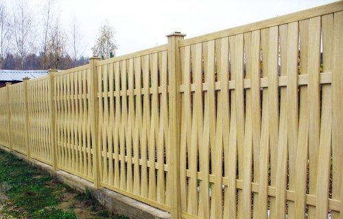 Деревянное ограждение-решетка
