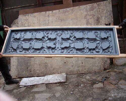 Форма для изготовления бетонных плит для забора