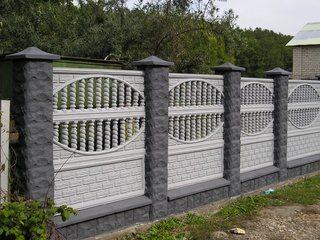 Фото – Бетонный забор