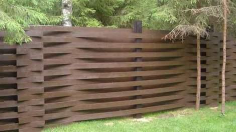 Фото деревянного ограждения