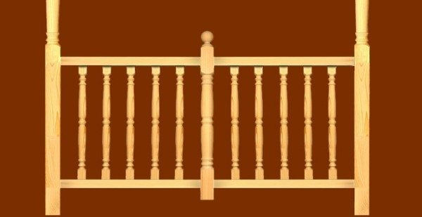 Фото секции деревянной ограды