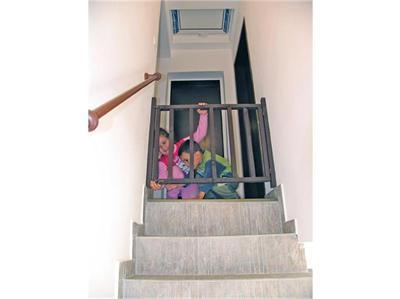 Фото защитной решетки или калитки перед лестницей