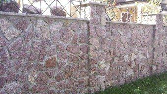 Гранитный забор