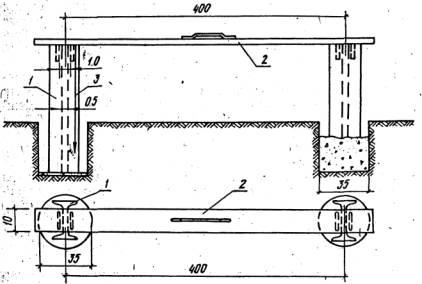Изготовление барьерного ограждения – установка опорных столбов