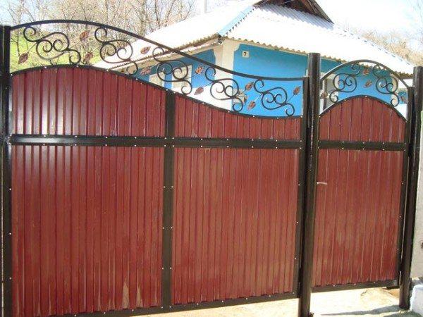 Калитка с воротами из профнастила