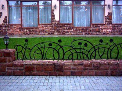 Комбинированное газонное ограждение