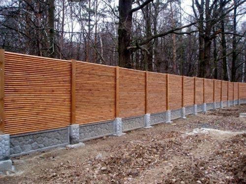 Комбинированный вариант – забор «Кросс»