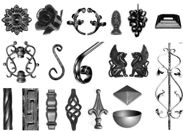 Кованые украшения для заборов, ворот и ограждений.