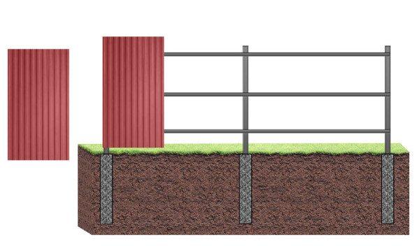 Крепление листов на забор
