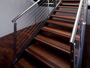 Лестничные металлические ограждения с использованием тросов