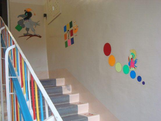 Лестничный марш в детском саду.