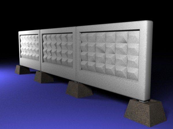На фото - классический вариант ограды для режимного объекта
