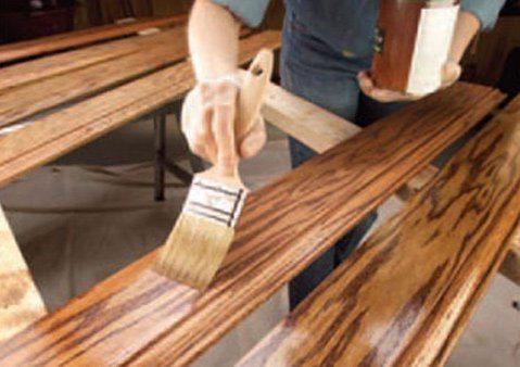 Обработка древесины защитным покрытием