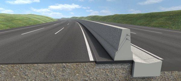 Один из вариантов жестких конструкций изготовленных из бетона