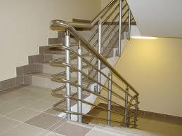 Ограждение из нержавеющей стали для маршевой лестницы