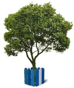 Ограждения для деревьев из натуральной древесины
