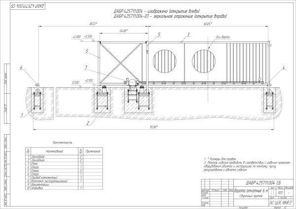 Определившись с габаритами, нетрудно построить своими руками чертежи ворот.