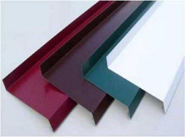 Отливы разного цвета