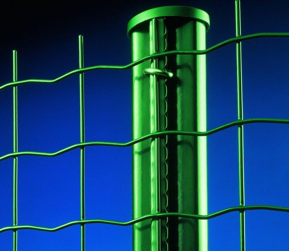 Оцинкованная с ПВХ покрытием сварная заборная сетка Каскад