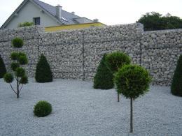 Пергоны с каменной засыпкой