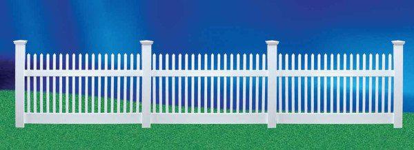 Пластиковый штакетник – отличная декоративная ограда.