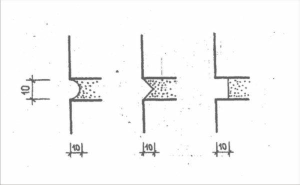 Правильная расшивка швов