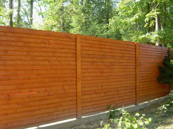 Пример деревянного ограждения