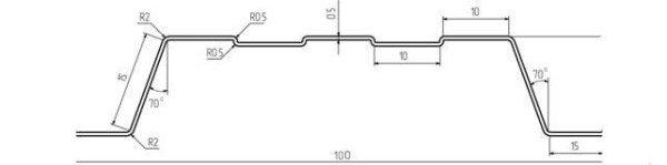Профиль штакетника П-образной формы