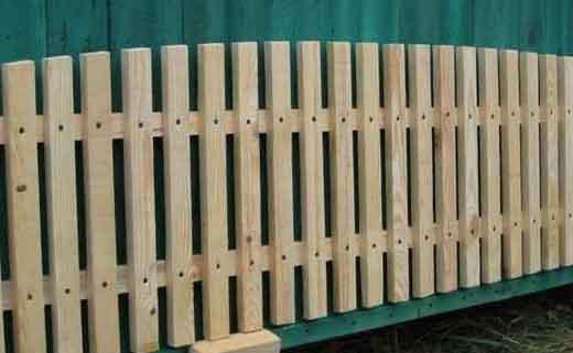Простейшая деревянная конструкция, представленная в виде отдельной секции