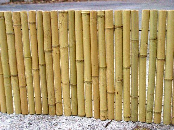 Простой бамбуковый забор