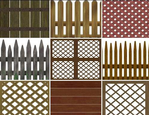 Различные типы изготовления заборов из сухой древесины