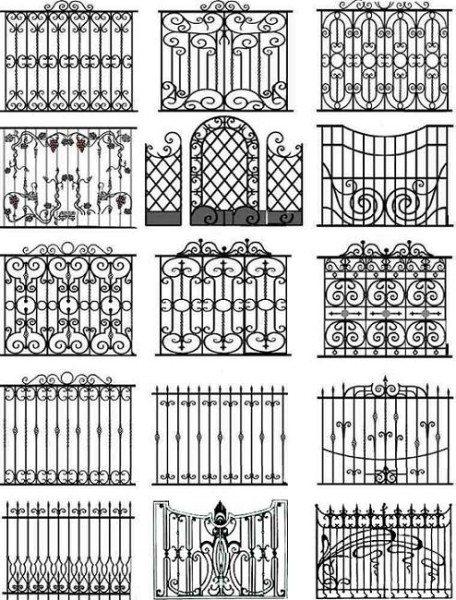 Различные типы металлических конструкций, изготавливаемых кузнечным методом