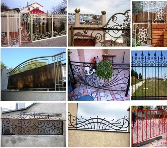 Различные варианты металлических оград