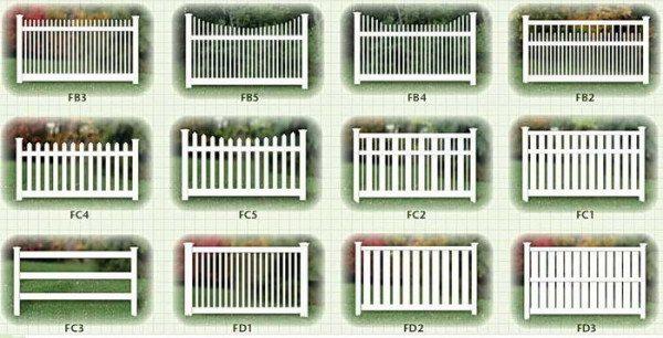 Секции для оградок
