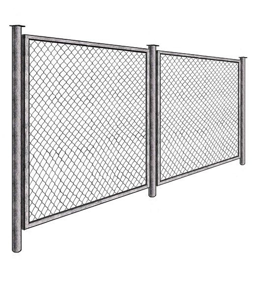 Секционные сетчатые ограды.