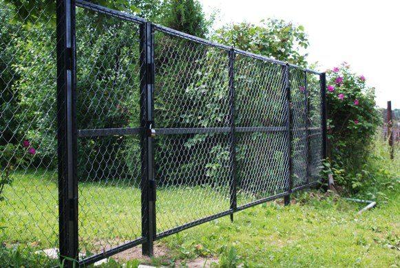 Секционный забор. Сетка Рабица