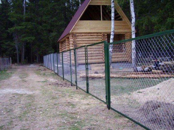Сетчатый прозрачный забор