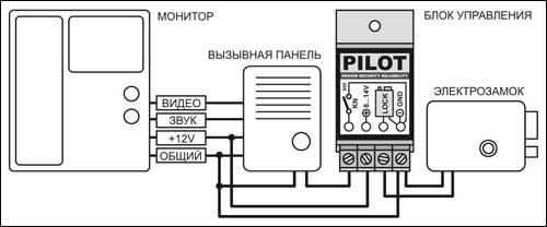 Схема подключения для сложной системы