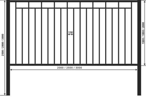 Схема профильной секции ограждения