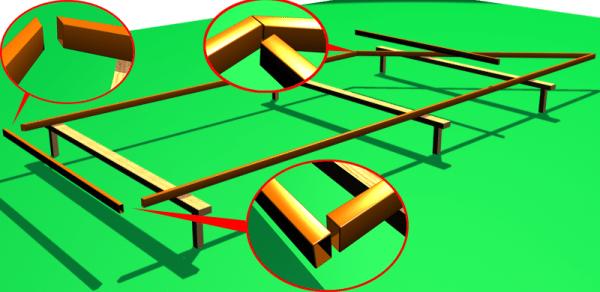 Схема сборки каркаса с применением сварочного соединения