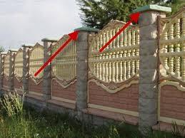 Стрелками обозначены крышки для бетонных столбов.