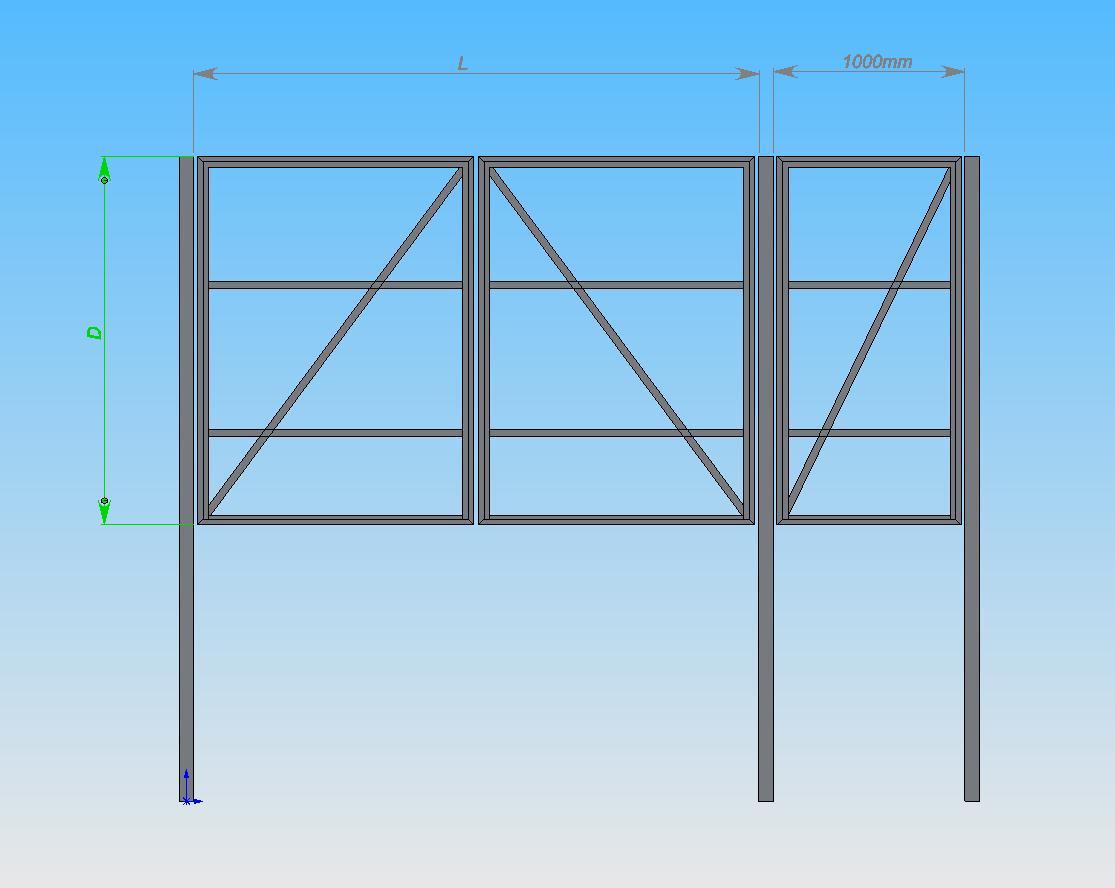 Как сделать ворота в гараж из профильной трубы 27