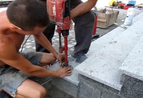 Сверление отверстий под балясины