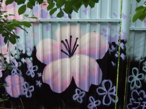 Рисунок на заборе своими руками трафарет